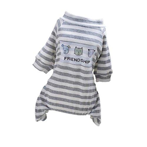 Imagen de magideal pijama de perros gatos ropa de animal doméstico mono de algodón de mascotas para fiesta de disfraz accesorio de dormir en cama  metro