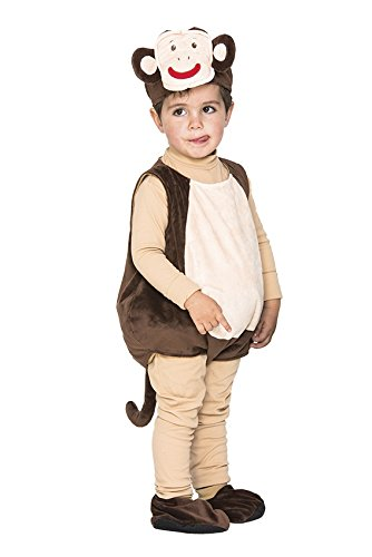 - Größe 88 cm, Tierkostüme Dschungel Äffchen Monkey Afrika Babys Kleinkinder (Zirkus Affe Kostüm)