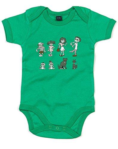Zombie Family, Gedruckt Baby Strampler - Grün/Transfer 12-18 Monate