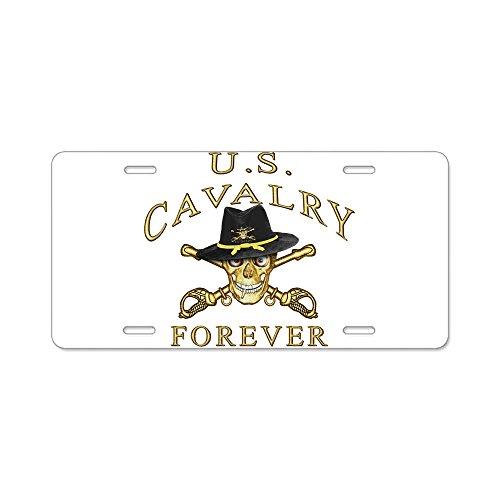 CafePress-Kavallerie Forever-Aluminium Nummernschild, vorne Nummernschild, Vanity Tag -