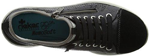 Rieker L3277-01, Sneakers Basses Femme Noir (01 Black)