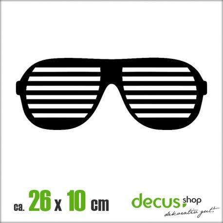 Drift Brille XL 1050 // Sticker OEM JDM Style Aufkleber (gelb)