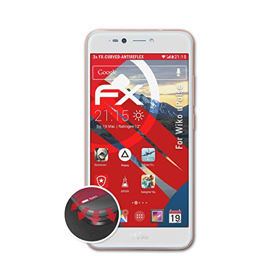 atFolix Schutzfolie passend für Wiko uPulse Folie, entspiegelnde & Flexible FX Bildschirmschutzfolie (3X)