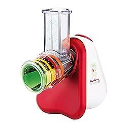 Moulinex DJ756G15 Fresh Express Plus Elektrisches Schnitzelwerk Zerkleinerer, 200 Watt