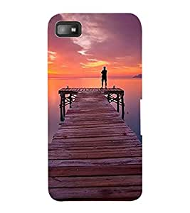 ColourCraft Beautiful Sunset Design Back Case Cover for BLACKBERRY Z10
