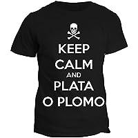 Tshirt Narcos KEEP CALM AND PLATA O PLOMO - PABLO ESCOBAR - SERIE TV - in cotone by Fashwork