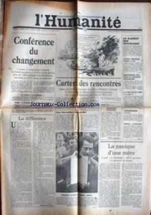 HUMANITE (L') du 07/01/1978 - CARTER - DES RENCONTRES - LE RACKET DES SUFFRAGES - DANIEL HECHTER RADIE A VIE - RENCONTRE CGT - CFDT - LE SMIC - ITALI - IMPASSE - ANDRE WURMSER - F. LAZARD.