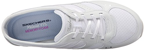 Conversazioni Skechers Sport Real Deal Mule White Leather/Mesh Light Gray Trim