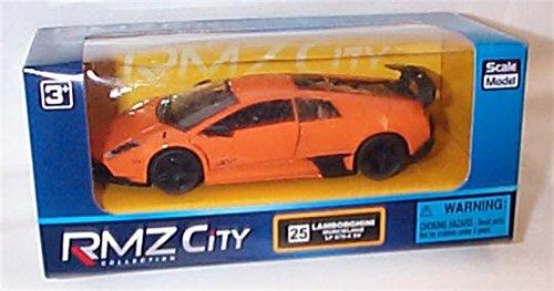 rmz-city-collection-orange-lamborghini-murcielago-lp-670-4-sv-car-132ish-scale-diecast-model