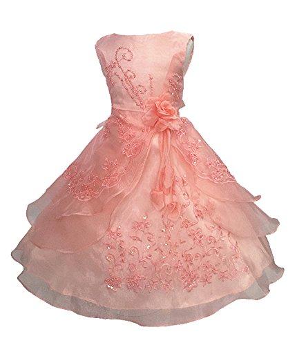 Blumenmädchenkleid Kinder Mädchen Kleid Brautjungfern Hochzeitskleid Festlich Partykleid 26 Farben...