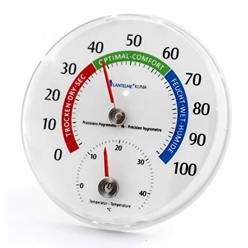 Lantelme 6540 Temperatur und Luftfeuchtemesser Kombigerät - Analog Thermometer und Hygrometer