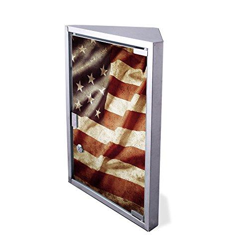 Edelstahl Medizinschrank Eckschrank abschließbar 30x17,5x45cm Badschrank Hausapotheke Arzneischrank Bad United States (Amerika Schrank)