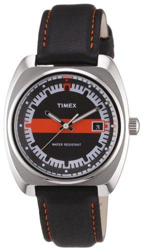 Timex T2N585ZF - Reloj para mujeres, correa de cuero color negro
