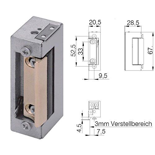 Türöffner (Hochwertiger DENI elektrischer Türöffner mit Tagesentriegelung E-Öffner 20171 2110 33)