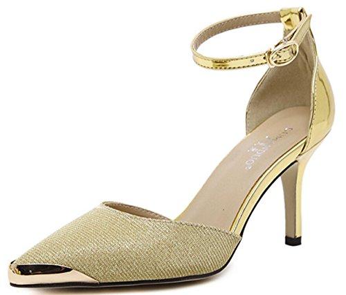 Da donna-Tacchi-Matrimonio / Serata e festa / Formale / Sportivo-Others / Comoda / Alla schiava-A stiletto-PU (Poliuretano)-Argento / Gold