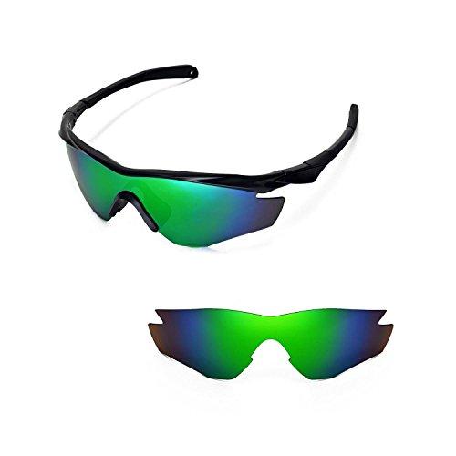 Walleva Ersatzgläser für Oakley M2 Sonnenbrille - 15 Optionen (Emerald Mirror Coated - Polarisiert)
