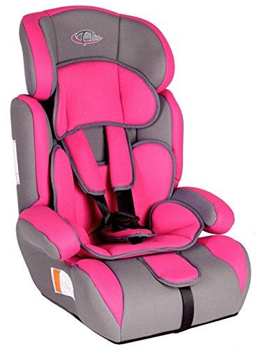 Preisvergleich Produktbild TecTake® Autokindersitz pink Gruppe I/II/III 9-36kg 1-12 Jahre + Extrapolster