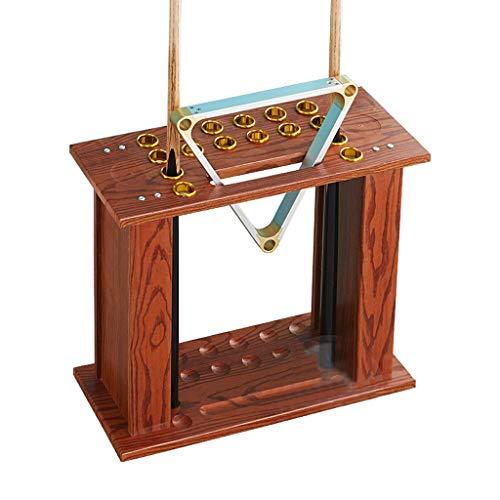 WXS Pool Queue Halter-Standhalter für 16 Queues Billard-Zubehör aus Holz (Color : #3)