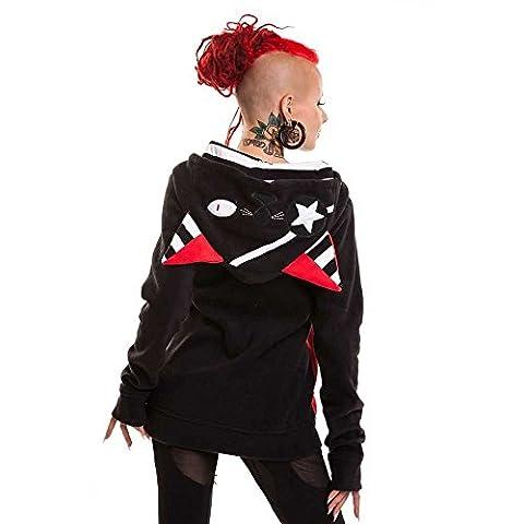 Bye Bye Kitty Star Kitty Girl-Kapuzenjacke schwarz/rot M
