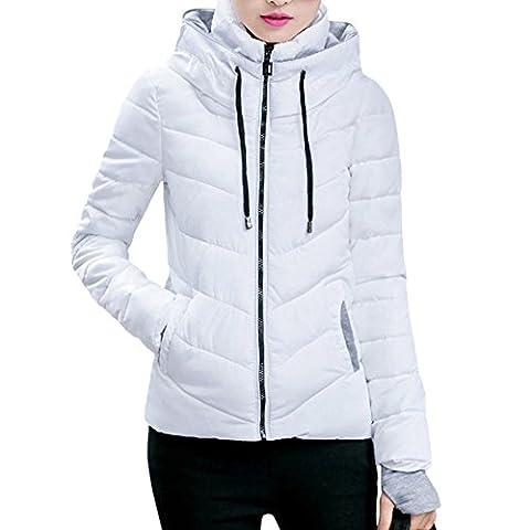 iBaste Mantel Damen Winterjacke mit Kapuzen Parka Steppjacke Wintermantel Herbstjacke Outwear-WT-XL