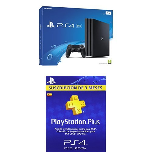PlayStation 4 Pro (PS4) - Consola de 1 TB + PSN Plus Tarjeta 90 Días