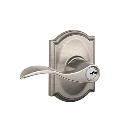 Schlage Camelot Collection Accent Keyed Entry Lever, F51 ACC 619 CAM
