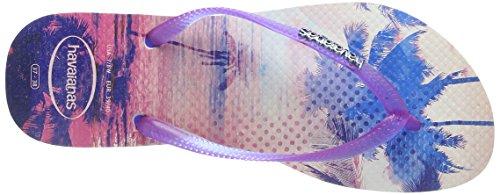 Havaianas Tongs Femme Slim Paisage Violet (white/Violet 2650)