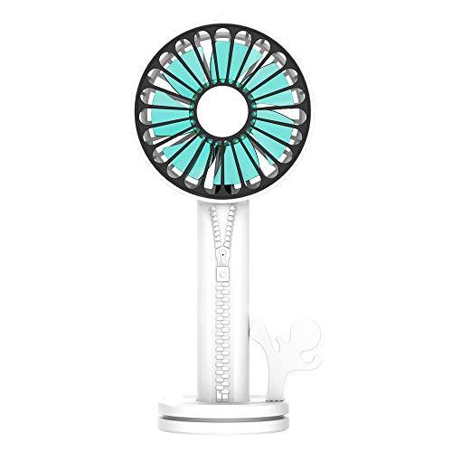 zx zxyUsb-Handheld Fan Kosmetik Spiegel Portable Externe Halterung Basis Geräuschlos weiß -