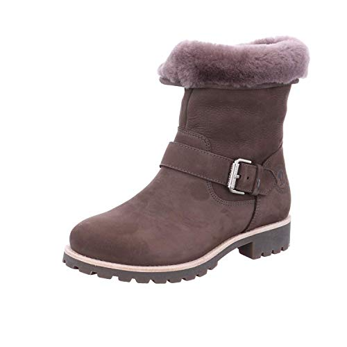 PANAMA JACK Damen Winterstiefel Singapur Igloo,Frauen Winter-Boots,Fellboots,Lammfellstiefel,Fellstiefel,gefüttert,Warm,Grau,EU 36