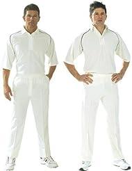Carta deporte Cricket Whites Club críquet Plain camiseta 3/4Manga Top blancos, color granate, tamaño small