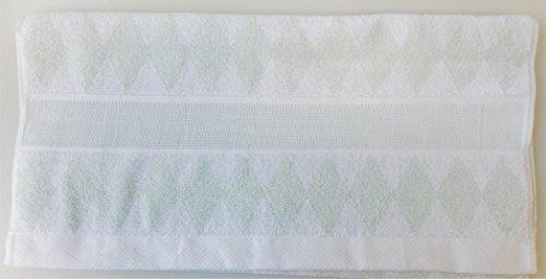 Rico-Design Duschtuch Handtuch Waschhandschuh mit Aidabordüre zum Besticken im gezählten Kreuzstich (Handtuch hellgrün mit Rauten 50x100 cm) (Gezählt Kreuzstich-handtücher)