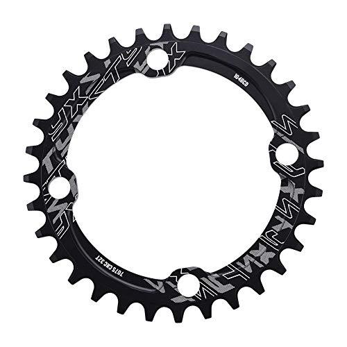 SolUptanisu Fahrradkettenring 32/34/36/38 zähne BCD Fahrrad Kettenblatt 104mm Crank Länge Chainring Aluminium Mountainbike Singlespeed Kettenblatt(36T-Schwarz)