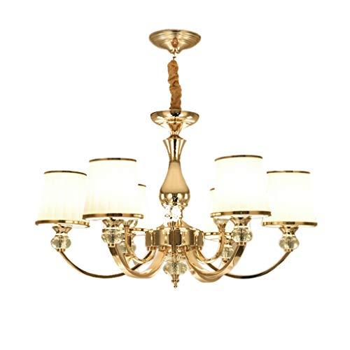 JU FU-Leuchte Wohnzimmer-Kronleuchter im europäischen Stil - postmoderne minimalistische Kristalllampe Jane European Restaurant Schlafzimmer Lampe Designer Hause Beleuchtung @ (größe : 6 heads) -