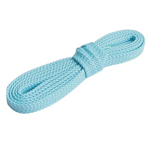 HCFKJ Flat Coloré Basket Chaussure Lacets Cordes Lacets Lacets Bleu clair