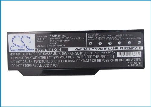 CS 6600mAh Akku für Medion MIM-2240 MIM-2270 MIM-2280 Akoya P7610 P8612 P8610 etc.