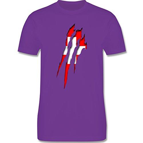 Länder - Schweiz Krallenspuren - Herren Premium T-Shirt Lila
