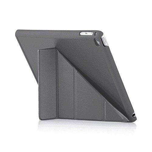 Preisvergleich Produktbild PIPETTO Luxe Origami Faltbare Lammfell-Hülle mit Stand für Apple iPad Air 2 grau