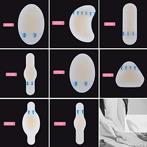 Blasenpflaster, 8pcs Wasserdichte Gel Pflaster, Gel Selbstklebend Pflaster, Anti-Rutsch-Gel Anti-Entzündliche Casual Füße Schutz Pads -