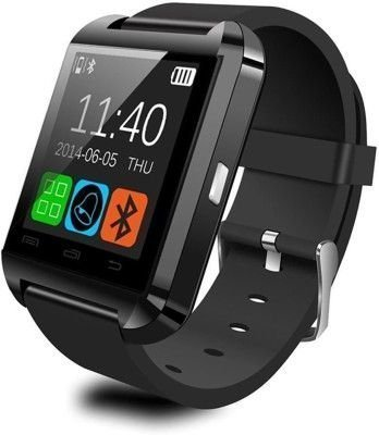 Mobimint Acer Liquid E700 Compatible Bluetooth smartwatch / Wrist Watch (U8 Black) with Sim Card Support for High Quality Calling | Facebook and WhatsApp | Touch Screen | Multilanguage | Activity Trackers | Fitness Band Features | Video Recording | Phone Book | Smartwatch Phone with Camera TF SIM Card Slot | Compatible with 2G 3G 4G Android Mobile Phones & IOS phones.  available at amazon for Rs.899
