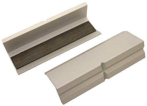 Preisvergleich Produktbild Schonbacken für Schraubstock Aluminium magnetisch 100 mm, Paar