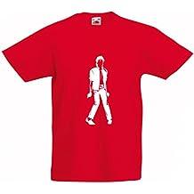 lepni.me Camiseta para Niño/Niña Me Encanta M J - Rey del Pop,