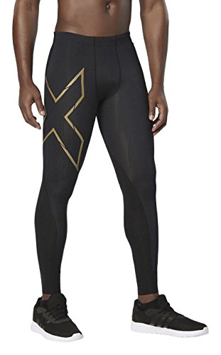 2 x U Mens Elite MCS Compression da uomo Tights pantaloni [Xform], Uomo, Mens Elite MCS Compression Tights [XFORM], Blk/Gld, M