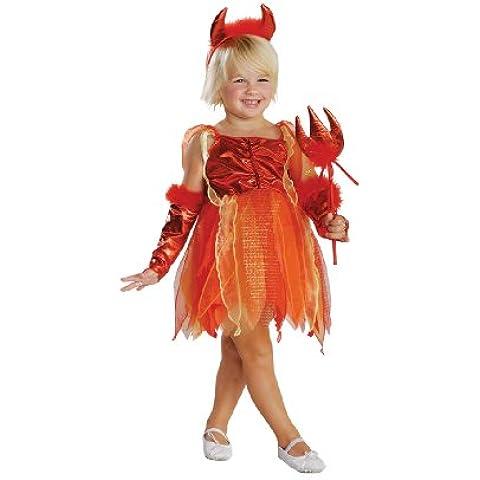 Rubbies - Disfraz de diablo para niña, talla 2 - 3 años (882722T)