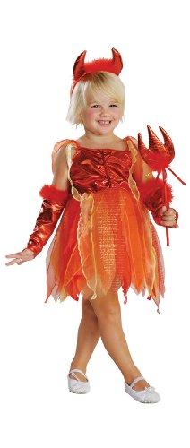 Rubbies - Disfraz de diablo para niña, talla 2-3 años (882722T)