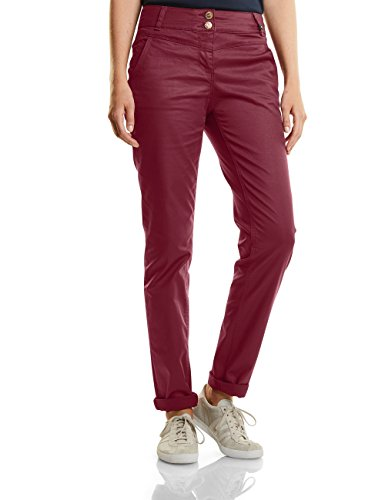 CECIL Damen Hose Victoria 371006, Rot (Velvet Red 10986), 38/L32 (Herstellergröße: 29) (Wide Leg Pants Velvet)