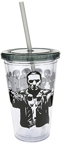ICUP Marvel's Punisher Guns Drawn 16oz. Plastic Cup with Straw by ICUP