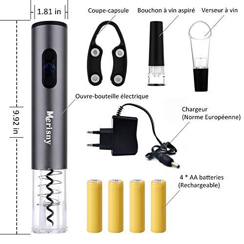 Zoom IMG-1 merisny cavatappi elettrico ricaricabile apre