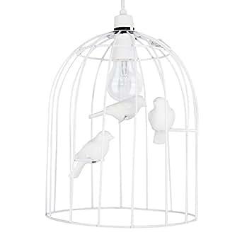 minisun abat jour moderne pour suspension cage oiseaux en chrome polis aux trois oiseaux. Black Bedroom Furniture Sets. Home Design Ideas