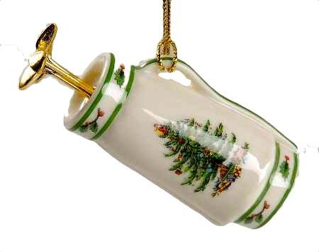 Spode Christbaumschmuck, Golfschläger und Spode China Christmas Tree Ornaments