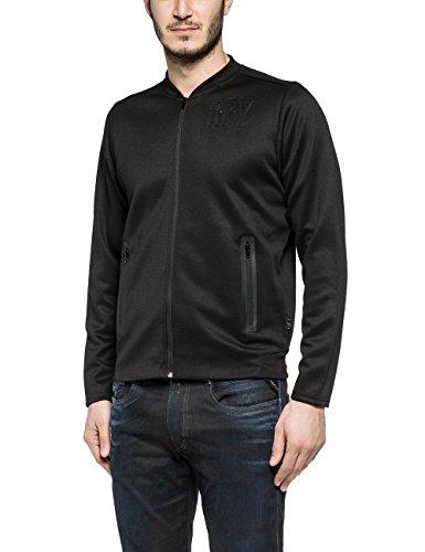 Replay Men's Men's Black Sweatshirt In Size M Black